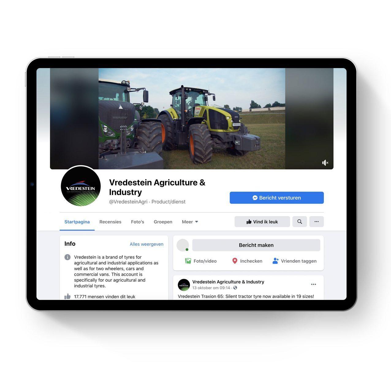 Mockup vredestein agri – iPad Pro