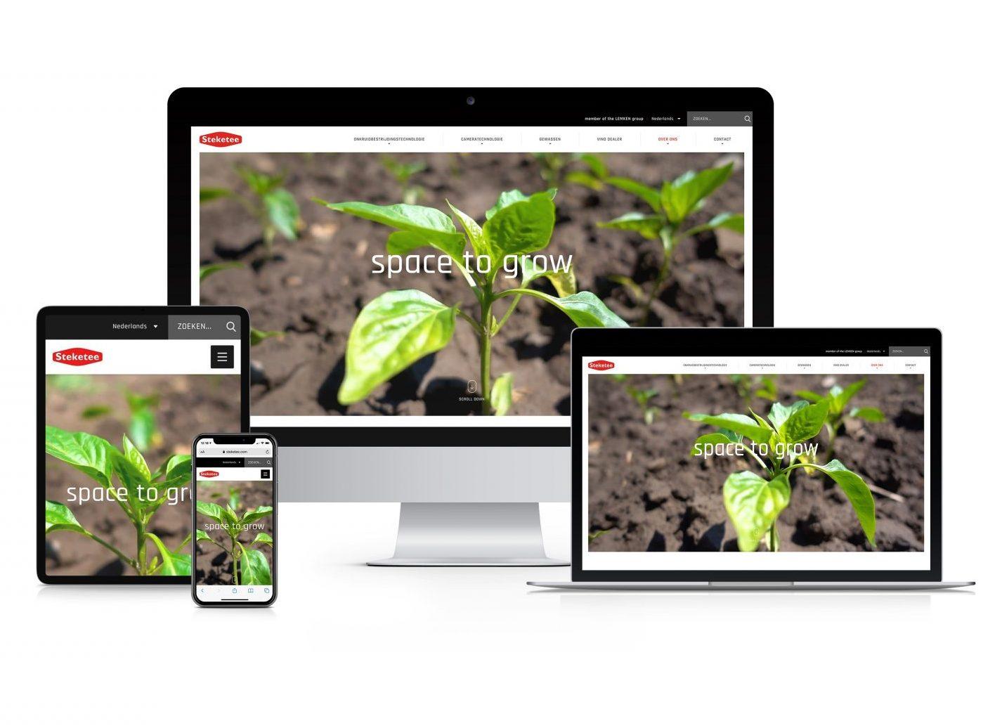 Mockup website steketee